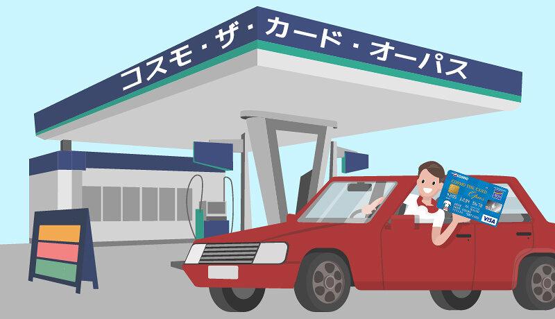 コスモ・ザ・カード・オーパスならガソリン代が割引に!年会費無料だから作って損なし