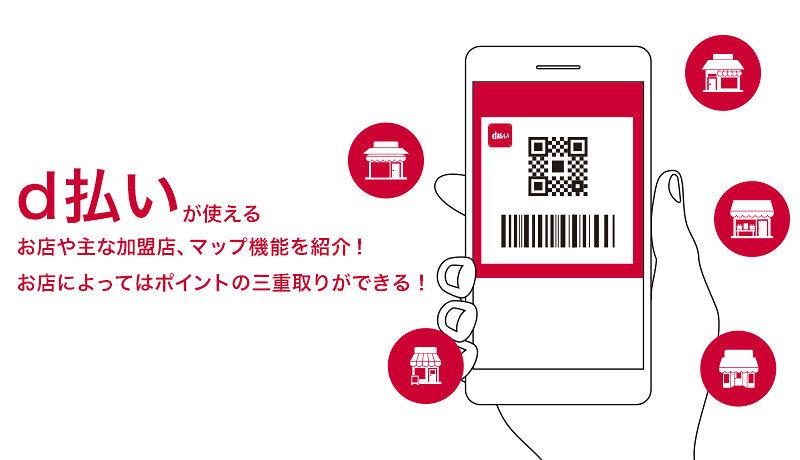 d払いが使えるお店や主な加盟店、マップ機能を紹介!お店によってはポイントの三重取りができる!