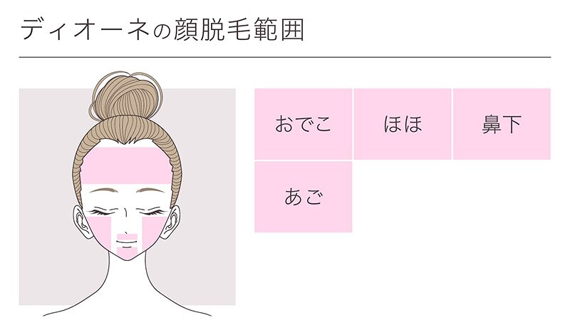 顔の脱毛部位の画像