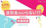 【モノレコ by Ameba】送別会に関するアンケート調査を実施いたしました